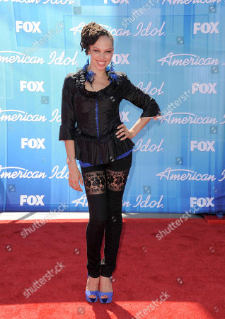 Stock Image of Naima Adedapo arrives at the American Idol Finale on in Los Angeles