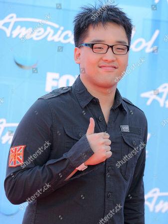 Heejun Han arrives at the American Idol Finale on in Los Angeles