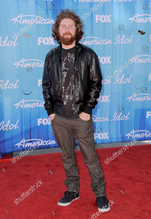 Casey Abrams arrives at the American Idol Finale on in Los Angeles