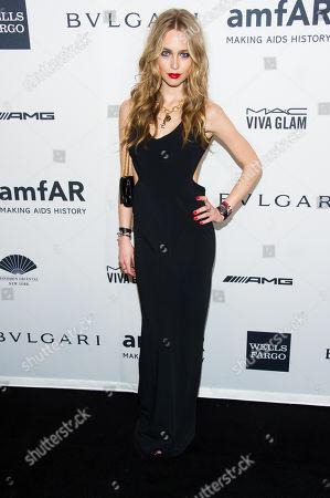 Katharina Damm attends the amfAR Gala on in New York