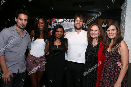 Chris Messina, Xosha Roquemore, Mindy Kaling, Ike Barinholtz, Beth Grant and Zoe Jarman at An Evening With Mindy Kaling to Celebrate Entertainment Weekly's New Hollywood Issue, on in Los Angeles
