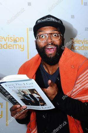 """Baratunde Thurston is seen at """"An Evening with Norman Lear"""", presented by the Television Academy at the Montalban Theatre on in Hollywood"""