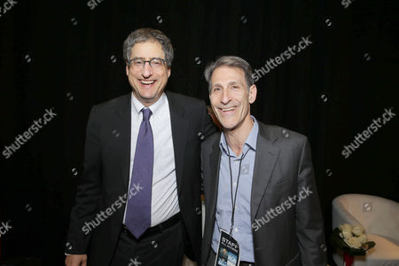 Tom Rothman, Chairman, Sony Pictures Motion Picture Group, and Michael Lynton, CEO, Sony Entertainment Chairman and CEO, Sony Pictures Entertainment, seen at An Evening with Sony Pictures Entertainment: Celebrating The Summer of 2016 and Beyond at 2016 CinemaCon, in Las Vegas, NV