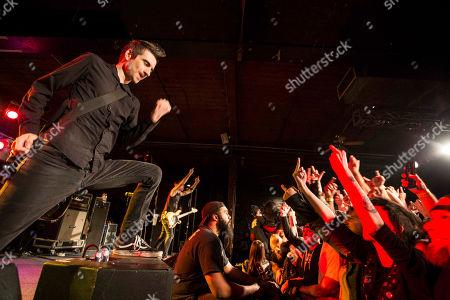 Justin Sane with Anti-Flag performs at the Masquerade, in Atlanta
