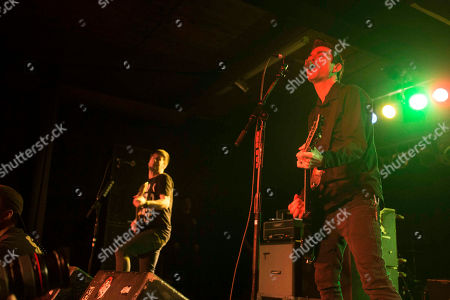 Stock Image of Justin Sane, Chris Barker, Chris Head and Pat Thetic with Anti-Flag performs at the Masquerade, in Atlanta