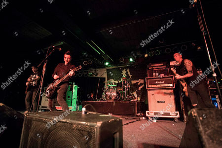 Justin Sane, Chris Barker, Chris Head and Pat Thetic with Anti-Flag performs at the Masquerade, in Atlanta