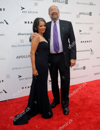 Jonelle Procope, left and Richard Parsons attend the Apollo Theater Spring Gala and 80th Anniversary Celebration at the Apollo Theater on Monday, June, 10, 2014 in New York City