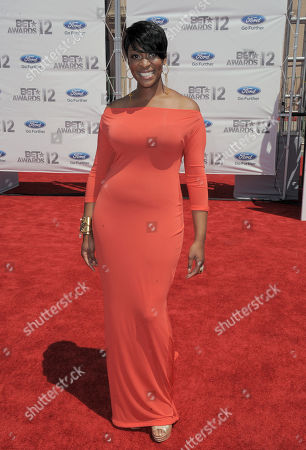 Stock Picture of Jessica Reedy arrives at the BET Awards, in Los Angeles