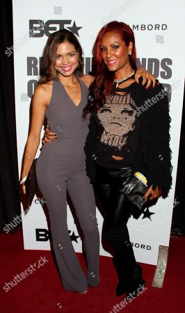 Actress Jennifer Freeman and interior celebrity designer Nikki Chu attend BET Real Husbands of Hollywood Wrap Party at SupperClub on Friday, Nov. 2nd, 2012, in Hollywood, California