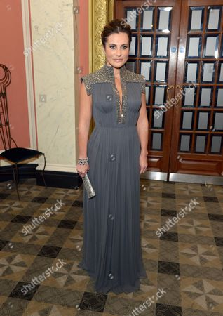 Ella Krasner wearing a Nicholas Oakwell Couture gown as she attends BFI Luminous Fundraising Gala, in London
