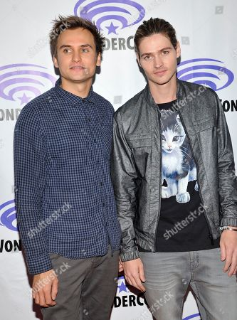 Moses Jacob Storm and Will Peltz seen at the Blumhouse Productions: Unfriended and Insidious: Chapter 3 Panels at 2015 Wondercon, in Anaheim, CA
