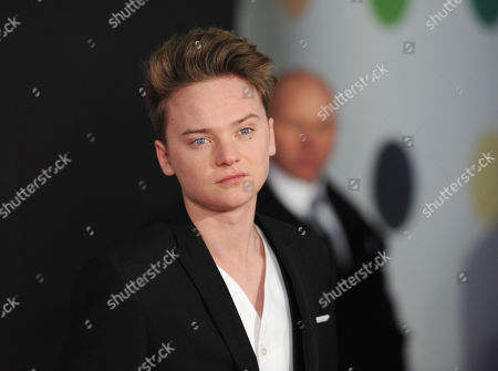 Connor Maynard seen arriving at the BRIT Awards 2013 at the o2 Arena, in London