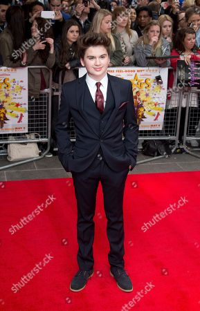 Theo Stevenson arrives at the UK Premiere of All Stars, at a central London cinema