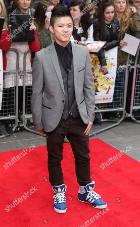 Stock Image of Kieran Lai arrives at the UK Premiere of All Stars, at a central London cinema
