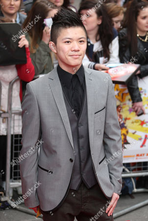 Stock Photo of Kieran Lai arrives at the UK Premiere of All Stars, at a central London cinema