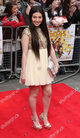 Hanae Atkins arrives at the UK Premiere of All Stars, at a central London cinema