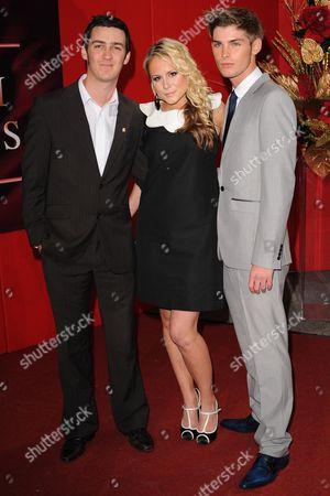 Chris Hargreaves, Elaine Glover and Kieron Richardson