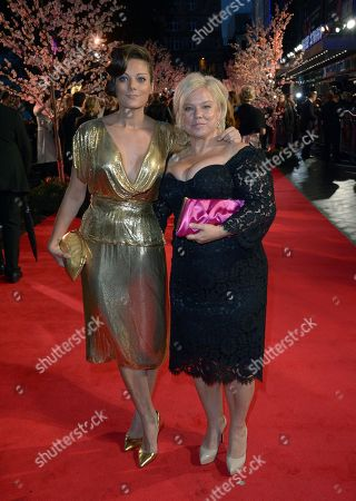 """Sarah Owen and mum english producer Alison Owen arrive at the 57th BFI London Film Festival Closing Night Gala and """"Saving Mr Banks"""" European Premiere at the Odeon West End,, in London"""