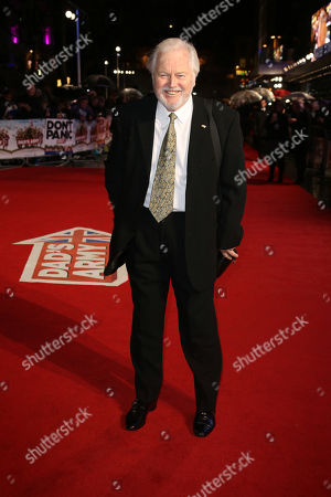Actor Ian Lavender poses for photographers upon arrival at the World premiere of the film 'Dad's Army' at a central London cinema