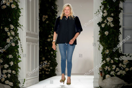 British designer Emma Hill at the Mulberry collection during London Fashion Week Spring/Summer 2014, at Claridges Hotel in central London