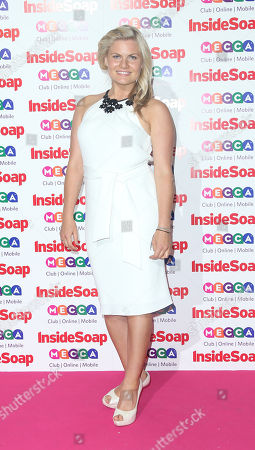 Stock Picture of Bonnie Sveen arrives for the Inside Soap awards, held at the Ministry of Sound in south London