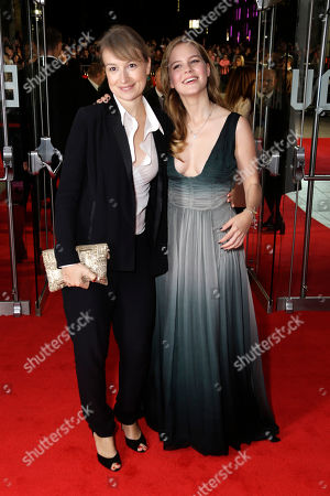 Actresses Anamaria Marinca and Alicia Von Rittberg poses for photographers upon arrival at the premiere of the film Fury, which closes the BFI London Film Festival, in central London
