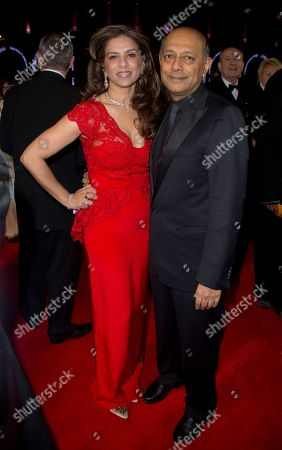 Producer Anant Singh arrives for the UK Premiere of the Long Walk to Freedom, a film based on the South African President Nelson Mandela's autobiography of the same name, to the Odeon cinema in Leicester Square, central London