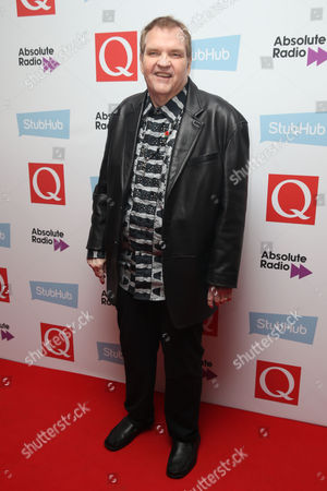 Meat Loaf poses for photographers upon arrival for the Q Music Awards, at the Camden Roundhouse in London