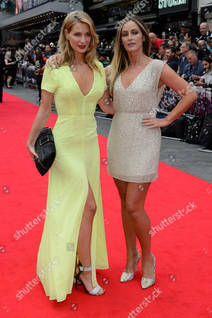 Olivia Newman Young and Francesca Newman Young arrive for the World Premiere of The Expendables 3 at a central London cinema