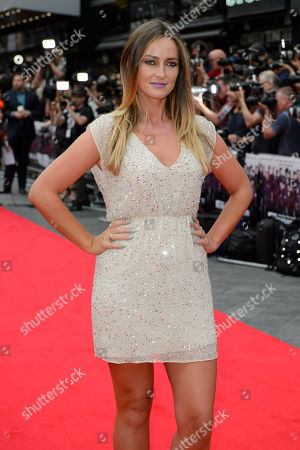 Francesca Newman Young arrives for the World Premiere of The Expendables 3 at a central London cinema