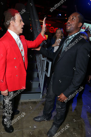 Richard Simmons and Jaleel White at BuzzFeed LA's Office Grand Opening, on in Los Angeles