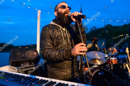Sebu Simonian of Capital Cities performs at The Surf Lodge, in Montauk