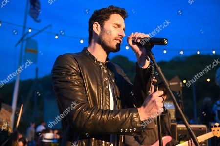 Stock Picture of Ryan Merchant of Capital Cities performs at The Surf Lodge, in Montauk