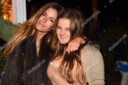 Model Kelly Bensimon, left, and her daughter Sea Louise Bensimon is seen at The Surf Lodge, in Montauk