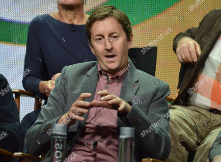"""Executive producer Mike Sikowitz on stage during the """"The McCarthys"""" panel at the CBS 2014 Summer TCA held at the Beverly Hilton Hotel, in Beverly Hills, Calif"""