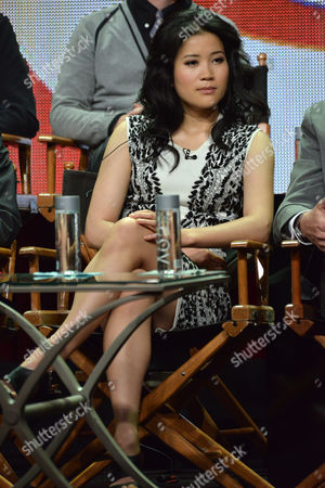 "Jadyn Wong on stage during the ""Scorpion"" panel at the CBS 2014 Summer TCA held at the Beverly Hilton Hotel, in Beverly Hills, Calif"