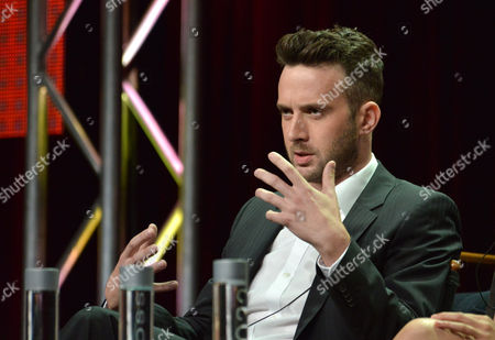 "Eddie Kaye Thomas on stage during the ""Scorpion"" panel at the CBS 2014 Summer TCA held at the Beverly Hilton Hotel, in Beverly Hills, Calif"