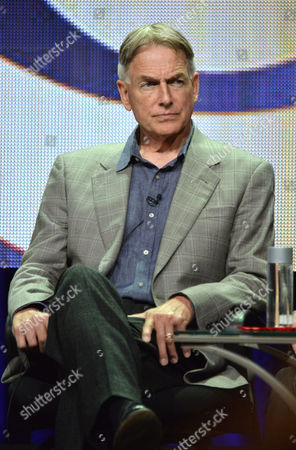 """Executive Producer Mark Harmon speaks on stage during the """"NCIS: New Orleans"""" panel at the CBS 2014 Summer TCA held at the Beverly Hilton Hotel, in Beverly Hills, Calif"""