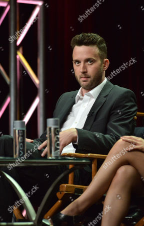 "Eddie Kaye Thomas appears on stage during the ""Scorpion"" panel at the CBS 2014 Summer TCA held at the Beverly Hilton Hotel, in Beverly Hills, Calif"