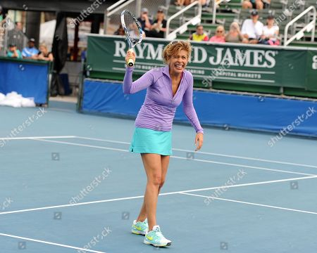 Stock Picture of Hoda Kobt participates in The 25th Annual Chris Evert/Raymond James Pro-Celebrity Tennis Classic at Delray Beach Tennis Center on in Delray Beach, Florida