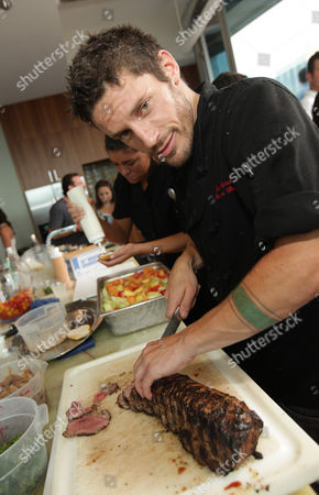 Stock Picture of Hell's Kitchen star Brian Merel on in Chicago