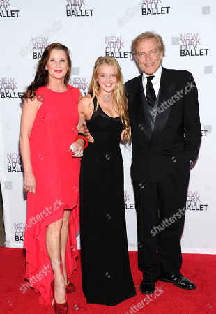 New York City Ballet ballet master and chief Peter Martins, right, with his daughter Talicia Martins and his wife, retired NYCB principal dancer, Darci Kistler, left, attend the New York City Ballet 2013 Fall gala at Lincoln Center, in New York