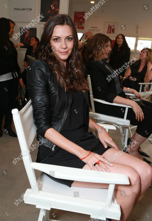 """Olga Fonda attends the Colgate® Optic White® Beauty Bar at The Selma House in Los Angeles â?"""" Day 2 on"""