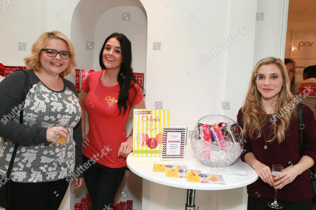 Stock Photo of B.K. Cannon, left, and Skyler Day, right, attend the Colgate Optic White Beauty Bar at The Selma House in Los Angeles  Day 2 on