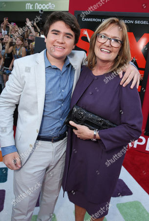Harrison Holzer and Nancy Lenehan seen at Columbia Pictures 'Sex Tape' World Premiere held at Regency Village Theatre,, in Westwood, Calif