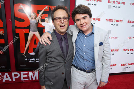 Director/Screen Writer Jake Kasdan and Harrison Holzer seen at Columbia Pictures 'Sex Tape' World Premiere held at Regency Village Theatre,, in Westwood, Calif