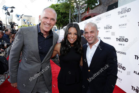 Producer Joe Drake, Executive Producer Nicole Brown and Executive Producer Nathan Kahane at Columbia Pictures 'This is The End' Premiere on Monday, June, 3, 2013 in Los Angeles