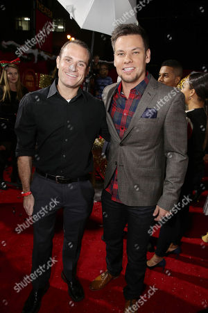 Matthew Cole Weiss and Theo Von seen at Columbia pictures present the World Premiere of 'The Night Before', in Los Angeles, CA