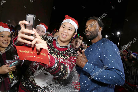 Baron Davis seen at Columbia pictures present the World Premiere of 'The Night Before', in Los Angeles, CA