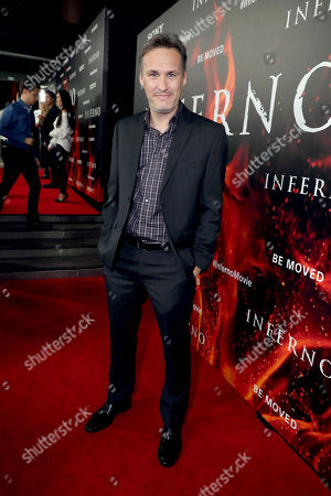 """Stock Photo of Jon Donahue seen at Columbia Pictures Presents in Association with Imagine Entertainment the Los Angeles Special Red Carpet Screening of """"Inferno"""" at The DGA, in Los Angeles"""